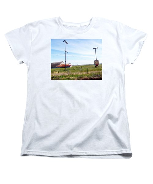 Women's T-Shirt (Standard Cut) featuring the photograph Time Passed By by Bobbee Rickard