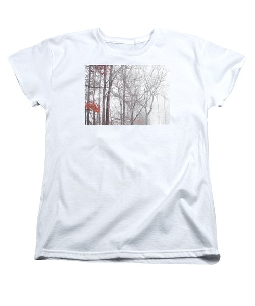 Touch Of Fall In Winter Fog Women's T-Shirt (Standard Cut) by Pamela Hyde Wilson