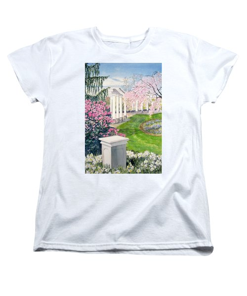Women's T-Shirt (Standard Cut) featuring the painting Tower Hill by Carol Flagg