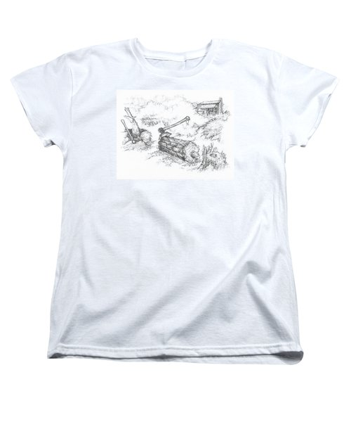 Trail Divides Women's T-Shirt (Standard Cut) by Scott and Dixie Wiley