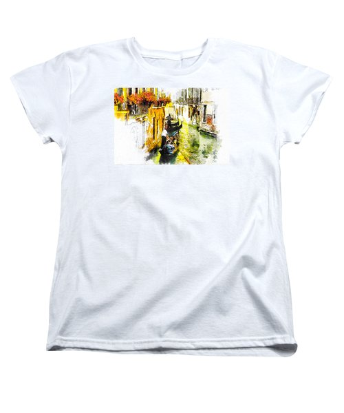 Women's T-Shirt (Standard Cut) featuring the painting Tranquillity by Greg Collins