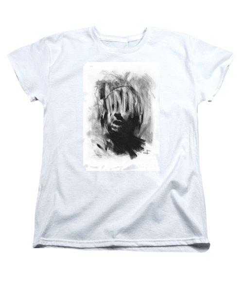 Women's T-Shirt (Standard Cut) featuring the drawing Gaza Trauma by Paul Davenport