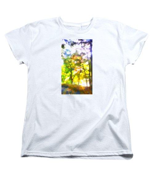 Women's T-Shirt (Standard Cut) featuring the digital art Tree Leaves by Frank Bright