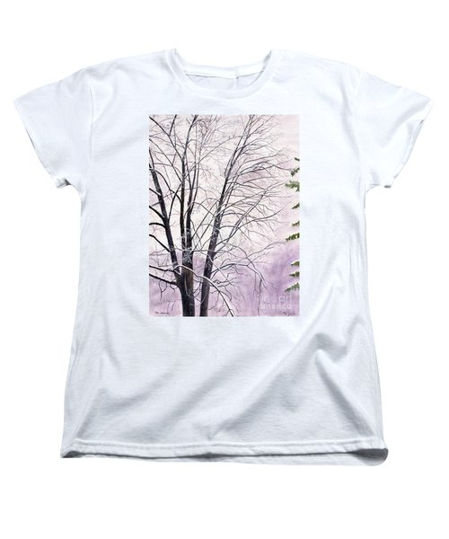 Women's T-Shirt (Standard Cut) featuring the painting Tree Memories by Melly Terpening