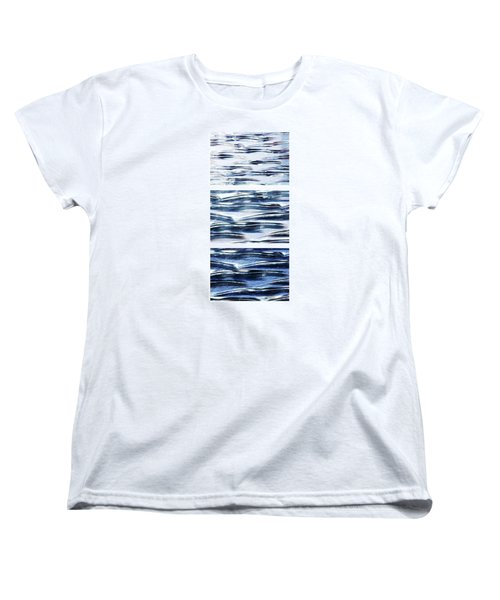 Women's T-Shirt (Standard Cut) featuring the photograph Trio In Blue by Wendy Wilton