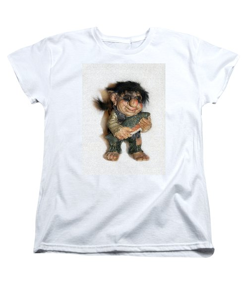 Troll Fisherman Women's T-Shirt (Standard Cut) by Sergey Lukashin