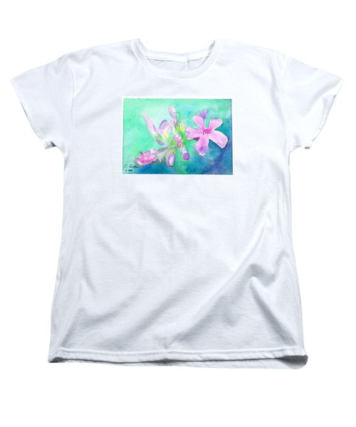 Women's T-Shirt (Standard Cut) featuring the painting Tropical Flowers by C Sitton