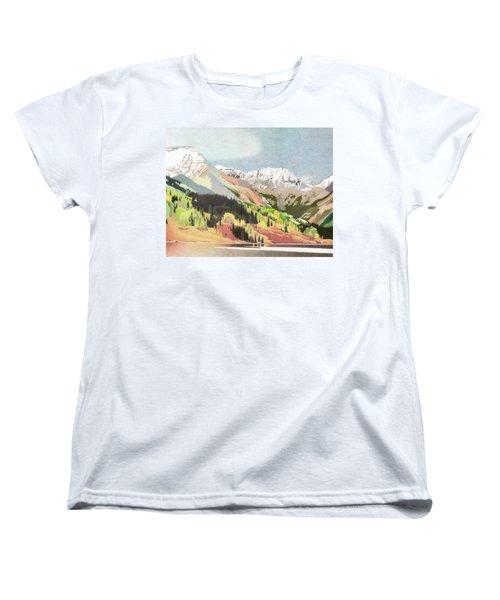 Trout Lake Colorado Women's T-Shirt (Standard Cut) by Dan Miller