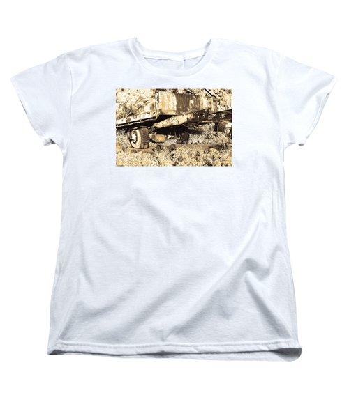 Truck Wreckage II Women's T-Shirt (Standard Cut) by Cassandra Buckley