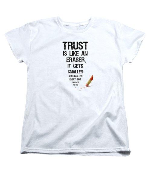 Trust Women's T-Shirt (Standard Cut) by Jean Haynes