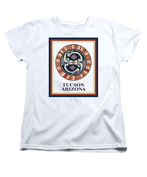 Women's T-Shirt (Standard Cut) featuring the digital art Tucson Arizona  by Vagabond Folk Art - Virginia Vivier
