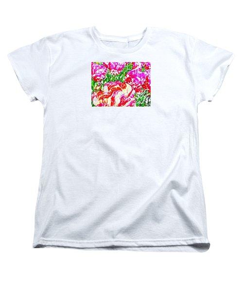 Tulip Infusion Women's T-Shirt (Standard Cut) by Zafer Gurel