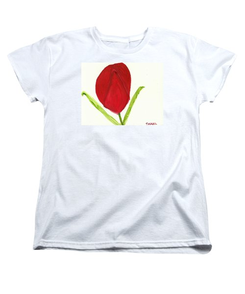 Tulip Of The Heart Women's T-Shirt (Standard Cut) by Tracey Williams