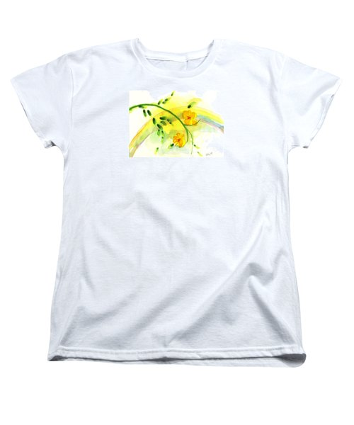 Women's T-Shirt (Standard Cut) featuring the painting 'twas By Grace by Holly Carmichael