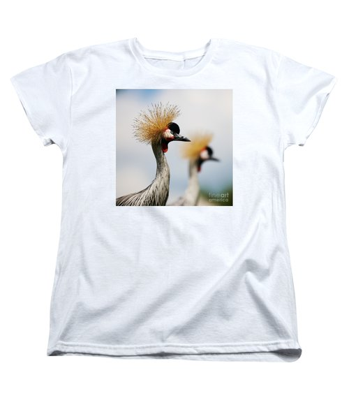 Two Black Crowned Cranes Women's T-Shirt (Standard Cut) by Nick  Biemans