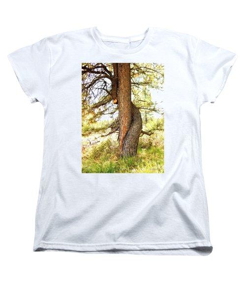 Two Pines Intertwined  Women's T-Shirt (Standard Cut) by Deborah Moen