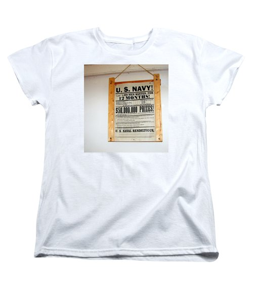U. S. Navy Men Wanted Women's T-Shirt (Standard Cut) by Pamela Hyde Wilson