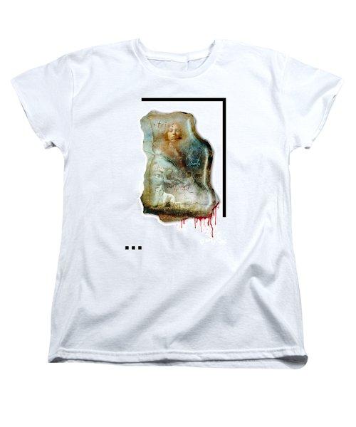 Women's T-Shirt (Standard Cut) featuring the mixed media Ubuntu by Paul Davenport