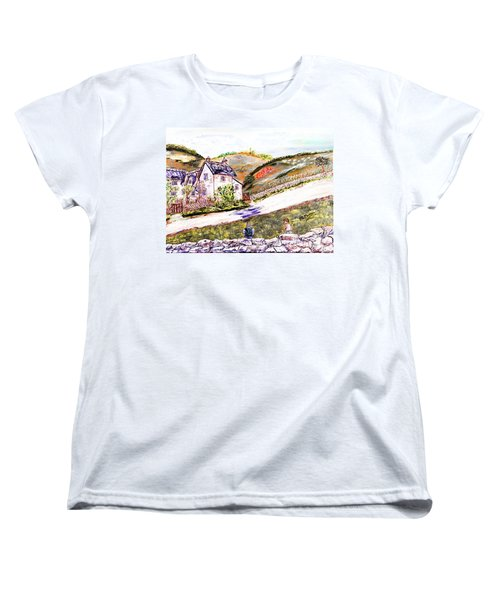 Women's T-Shirt (Standard Cut) featuring the painting An Afternoon In June by Loredana Messina