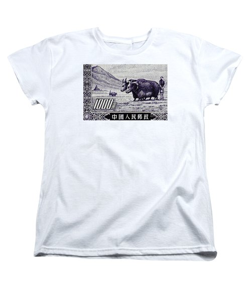Under The Plough Vintage Postage Stamp Detail Women's T-Shirt (Standard Cut) by Andy Prendy