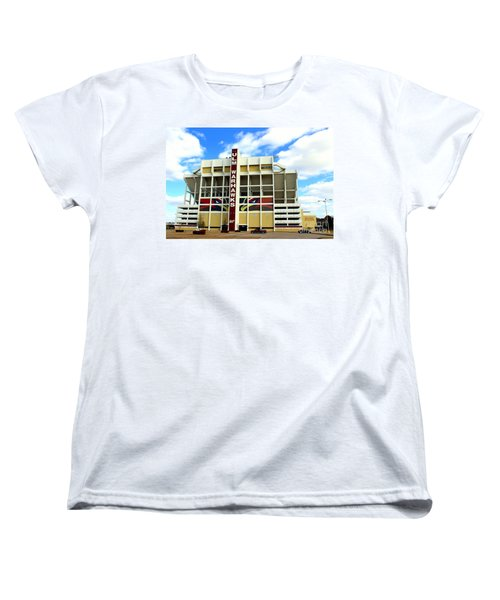 University Of Louisiana At Monroe Malone Stadium Women's T-Shirt (Standard Cut) by Kathy  White