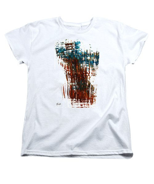 Women's T-Shirt (Standard Cut) featuring the painting Us In The Divine 264.111011 by Kris Haas