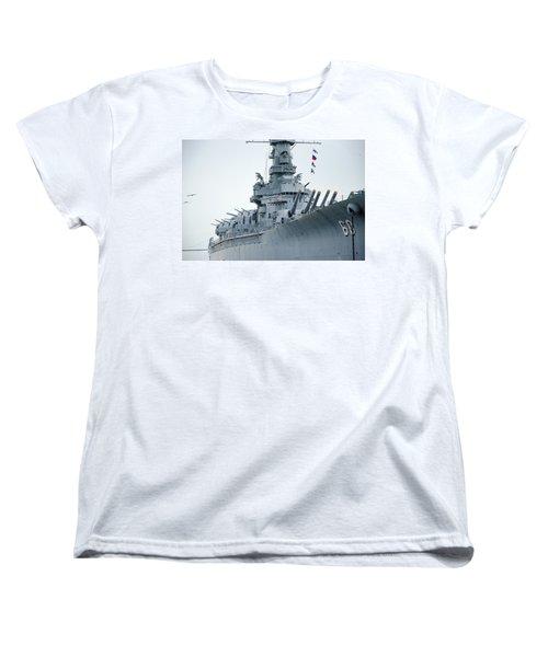 Women's T-Shirt (Standard Cut) featuring the photograph Uss Alabama 3 by Susan  McMenamin