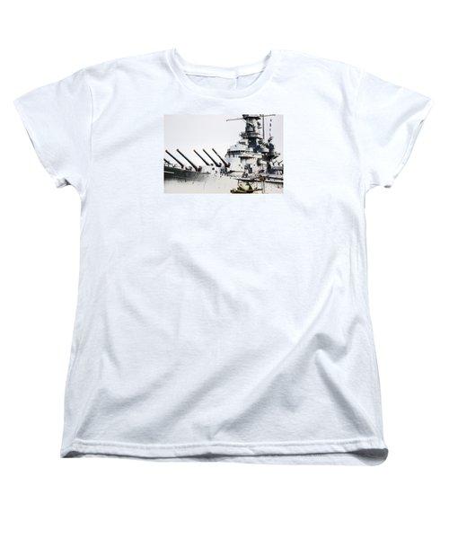 Women's T-Shirt (Standard Cut) featuring the photograph Uss Alabama by Susan  McMenamin