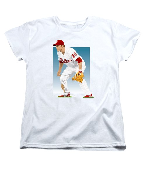 Utley In The Ready Women's T-Shirt (Standard Cut) by Scott Weigner