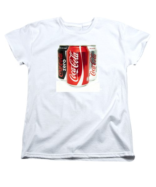 Various Coke Cola Cans Women's T-Shirt (Standard Cut) by Antony McAulay