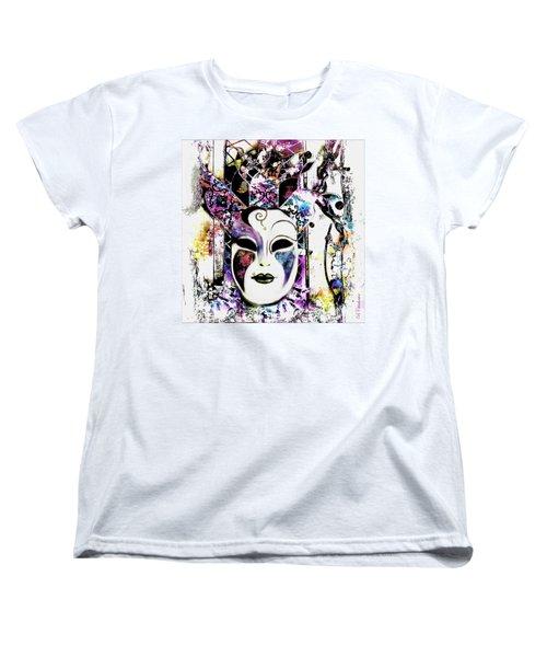 Venetian Mask Women's T-Shirt (Standard Cut) by Barbara Chichester