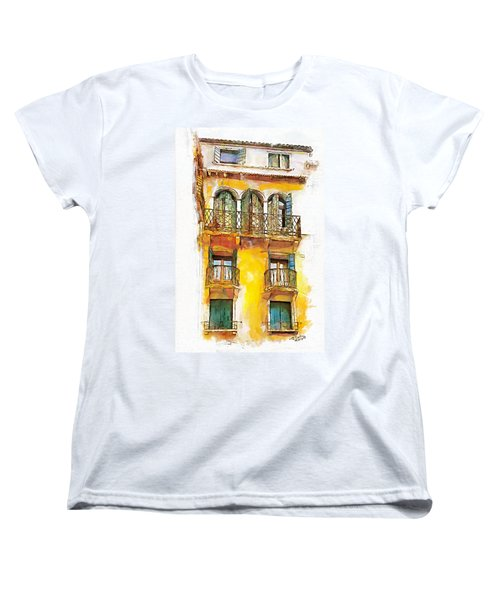 Women's T-Shirt (Standard Cut) featuring the painting Radiant Abode by Greg Collins