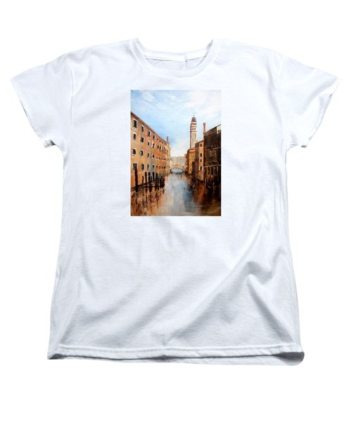 Women's T-Shirt (Standard Cut) featuring the painting Venice Italy by Jean Walker