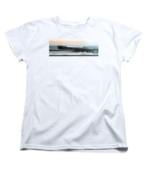 Ventura Storm Pier Women's T-Shirt (Standard Cut) by Henrik Lehnerer