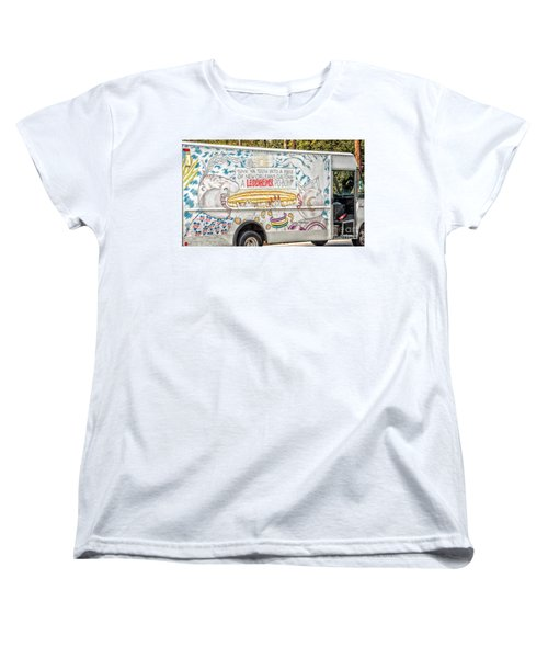 Vic And Nat'ly And The Leidenheimer Po-boy Truck - New Orleans Women's T-Shirt (Standard Cut) by Kathleen K Parker