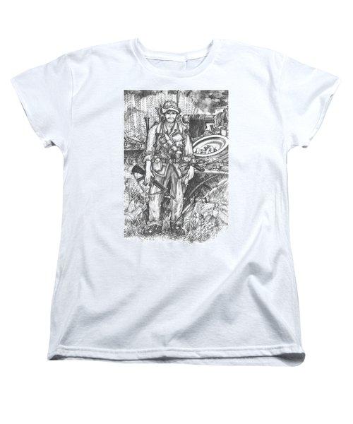 Vietnam Soldier Women's T-Shirt (Standard Cut) by Scott and Dixie Wiley