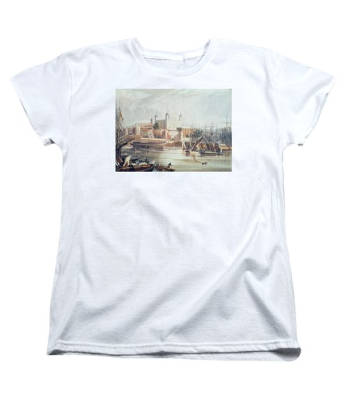 View Of The Tower Of London Women's T-Shirt (Standard Cut) by John Gendall