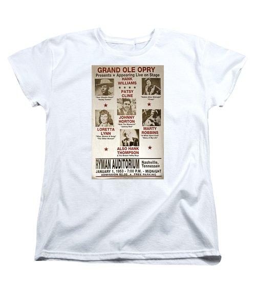 Vintage 1953 Grand Ole Opry Poster Women's T-Shirt (Standard Cut)