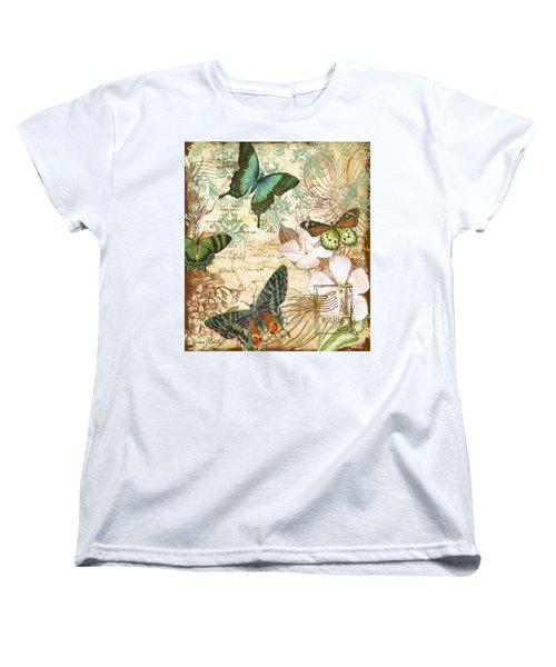Vintage Butterfly Kisses  Women's T-Shirt (Standard Cut) by Jean Plout
