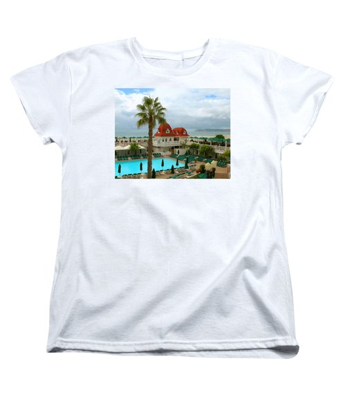 Vintage Cabana At The Del Women's T-Shirt (Standard Cut) by Connie Fox