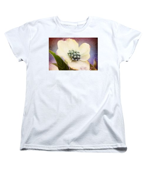 Women's T-Shirt (Standard Cut) featuring the photograph Vintage Dogwood Blossom by Trina  Ansel