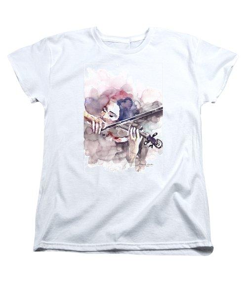 Women's T-Shirt (Standard Cut) featuring the painting Violin Prelude by Faruk Koksal