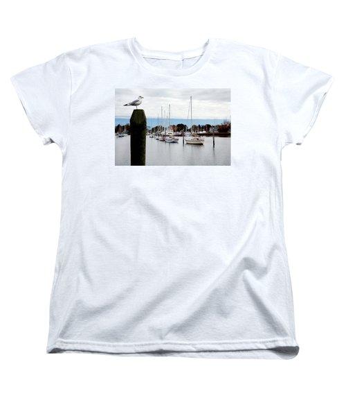 Waiting For Sandy Women's T-Shirt (Standard Cut) by Lon Casler Bixby