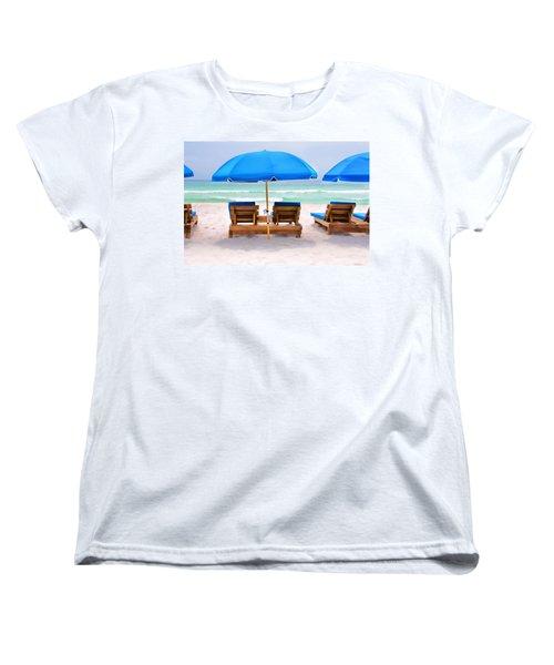 Panama City Beach Digital Painting Women's T-Shirt (Standard Cut) by Vizual Studio