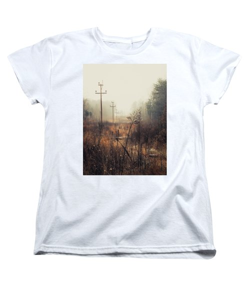 Walking The Lines Women's T-Shirt (Standard Cut) by Jessica Brawley