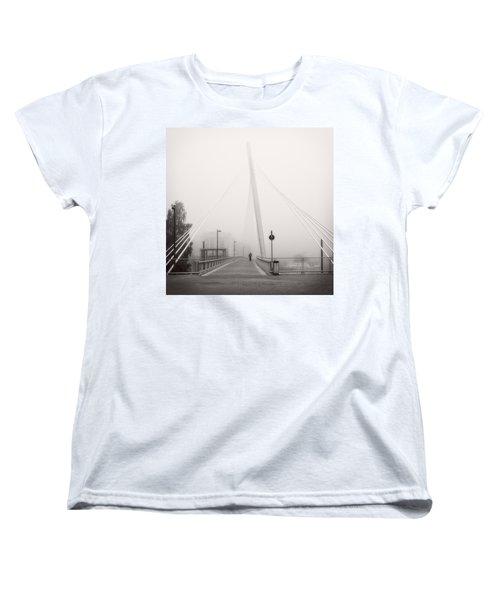 Women's T-Shirt (Standard Cut) featuring the photograph Walking Through The Mist by Ari Salmela