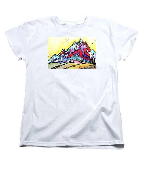 Women's T-Shirt (Standard Cut) featuring the painting Waning Seasons In The Tetons by Nicole Gaitan