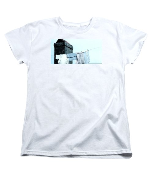 Women's T-Shirt (Standard Cut) featuring the photograph Wash Day Blues In New Orleans Louisiana by Michael Hoard
