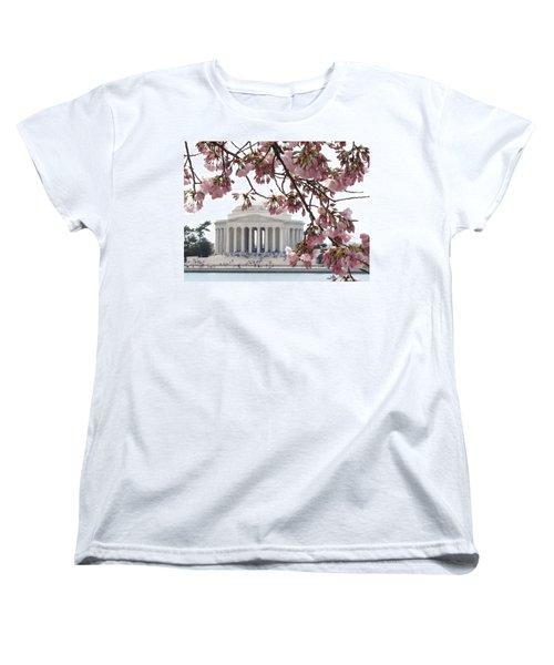 Women's T-Shirt (Standard Cut) featuring the photograph Washington Dc In Bloom by Jennifer Wheatley Wolf