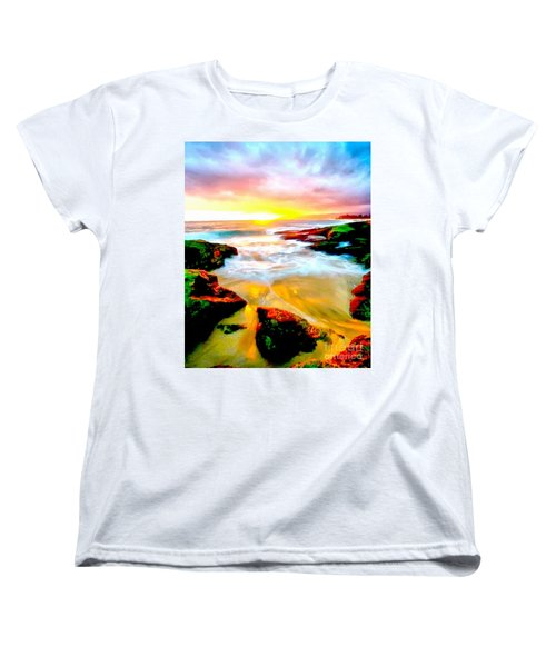 Water Runs To It Women's T-Shirt (Standard Cut) by Catherine Lott